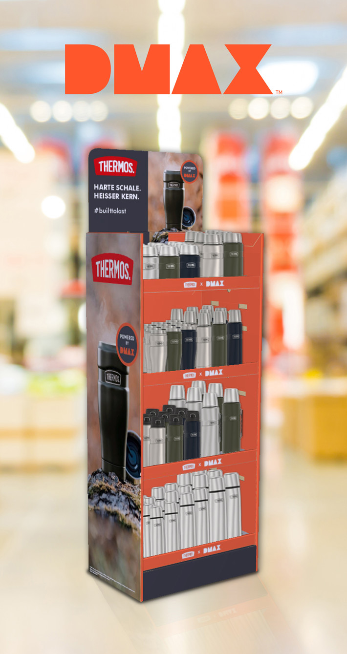 dmax display thermos products
